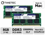 Timetec Hynix IC compatible with Apple 8GB Kit (2x4GB) DDR3 PC3-8500 1066MHz Memory Upgrade for iMac 20-inch /21.5 inch/24 inch /27 inch