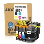 AITX LC229XL LC225 XL Ink Cartridge Replacement for Brother LC229 LC225 Compatible with Brother MFC-J5320DW J5620DW J5625DW J5720DW (4 Pack