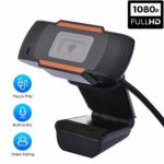 QKDCDB Webcam HD 1080P Streaming Web Camera with Microphone Video Calling Drive-free USB Plug and Play for Computer PC MAC Windows 7/8/10/XP Laptop Online Chatting Webcam