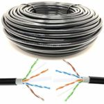 Mr. Tronic 100m Ethernet Network Bulk Cable Outdoor Weatherproof | CAT6