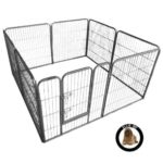 Ellie-Bo Heavy Duty Modular 8 Piece Indoor Puppy Exercise Play / Whelping Pen 26 square feet floor size