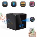 Spy Hidden Camera WiFi Bluetooth Speaker Alarm Clock TANGMI 1080P HD IP Nanny Cam Wireless Security Camera with Motion Detection Night Vision 140° Wide Lens