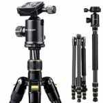 "K&F Concept 67"" Carbon Fiber Camera Tripod with Professional Monopod and 360 Degree Ball Head for Sony Canon Nikon DSLR Cameras"