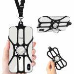 ROCONTRIP Phone Lanyard Silicone Case Cell Phone Lanyard Strap with Adjustable Neck Strap and Detachable Finger Ring Stand for 4.7 To 6.5 inch Smartphone: Amazon.co.uk: Electronics