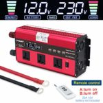 LVYUAN 2020 New 2500W /5000W Peak Power Inverter DC 12V to 230V 240V AC Car Converter with 4 USB ports 3 AC Sockets big LCD display 4 convection fans: Amazon.co.uk: Car & Motorbike