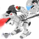 2020 Updated Remote Control Robot Dinosaur Toy with Mist Spray and Soft Bullets Shooting
