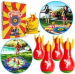 ToyerZ Darts Great Outdoor Games Indoor Game and Yard Games - 4 Inflatable Lawn Darts for Kids and Family. Toss Game Fun Backyard Family Games for Boys and Girls Outside Toys for Kids Gift Idea: Amazon.co.uk: Sports & Outdoors