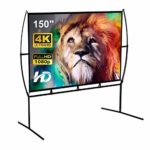 Screen Home Cinema 233X139Cm (150 '') 16: 9 Mobile Projector Screen Easy Installation And Operation Suitable For Home Cinema And Outdoor Projection Screen (150)