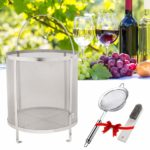 psler 11.8×12.2 inch (30×31cm) Wine Beer Dry Hops Filter Brewing Hopper Spider Strainer 300 Micron Mesh Barrel Brewing Grain Basket Strainer for Homebrew Hops Wine Beer Tea Kettle Brew Filter