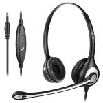 Mobile Phone Headset with Microphone Noise Cancelling & Call Controls