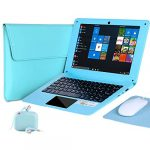 G-Anica® 10.1 Inch Windows 10 Laptop Quad Core Notebook Slim and Lightweight Mini Netbook Computer with Netflix Youtube Bluetooth Wifi Webcam HDMI