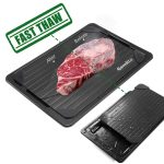 GEMITTO Defrost Tray Defrost Master Rapid Thawing Tray Aluminum Fast Heat Transfer Without Electricity Chemicals Microwave for Thawing Frozen Meat Food New Home Gift Wife & Mother Gift 33.5x23.5x3.5cm