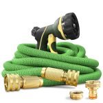 NGreen Expandable and Flexible Garden Hose - Strength Durable Fabric and 13-Layer Latex Inner Tube